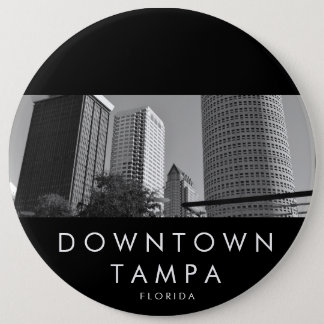 Downtown Tampa 6 Inch Round Button