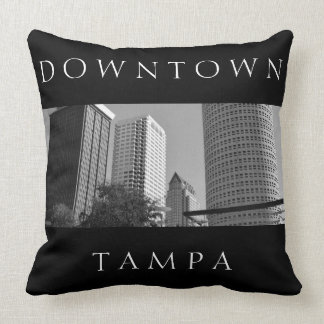 Downtown Tampa   Skyscraper Personalized Throw Pillow