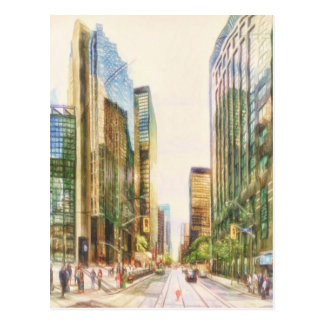 Downtown Toronto by Shawna Mac Postcard