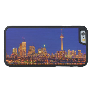 Downtown Toronto skyline at night Carved Maple iPhone 6 Case