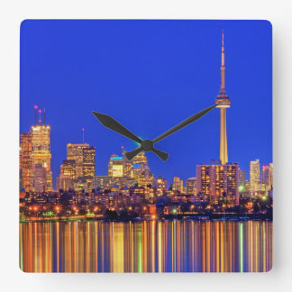 Downtown Toronto skyline at night Clocks