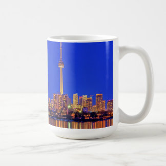 Downtown Toronto skyline at night Coffee Mug