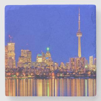 Downtown Toronto skyline at night Stone Coaster
