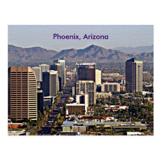 Downtown View of Phoenix, Arizona Postcard