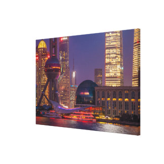 Downtown waterfront shanghai, China Canvas Print
