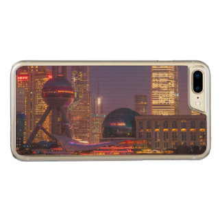 Downtown waterfront shanghai, China Carved iPhone 7 Plus Case