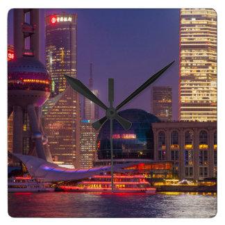 Downtown waterfront shanghai, China Clocks