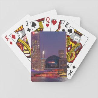 Downtown waterfront shanghai, China Poker Deck