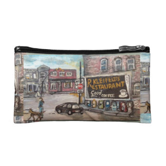 Downtown Willoughby Dog Walk Cosmetic Bag