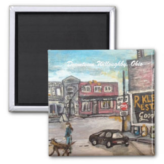 Downtown Willoughby,Ohio Dog Walk Magnet