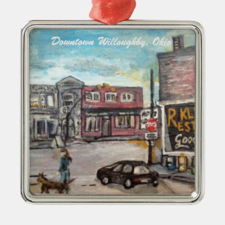Downtown Willoughby, Ohio Dog Walk Ornament