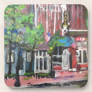 Downtown Willoughby, Ohio Painting Coaster