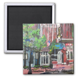 Downtown Willoughby, Ohio Painting Magnet