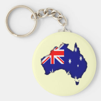 Downunder Day Basic Round Button Keychain