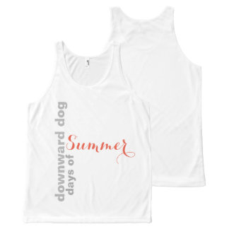 Downward Dog Days of Summer All-Over-Print Tank Top