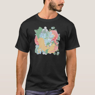 Downward Dog with Flowers T-Shirt