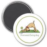Downward Facing Dog - yoga magnet