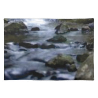 downward flow of creek placemat