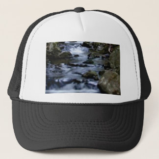 downward flow of creek trucker hat