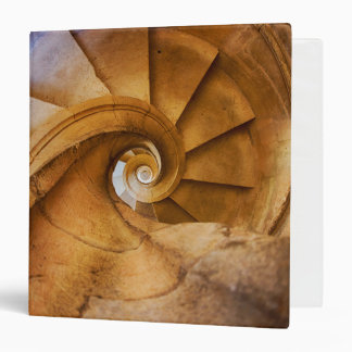 Downward spirl staircase, Portugal 3 Ring Binder