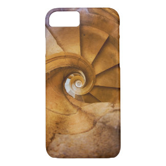 Downward spirl staircase, Portugal iPhone 7 Case