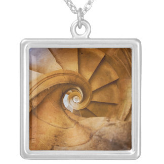 Downward spirl staircase, Portugal Silver Plated Necklace