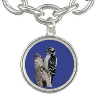 Downy Woodpecker Charm Bracelet