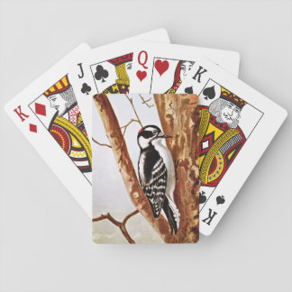 Downy Woodpecker Drawing Playing Cards
