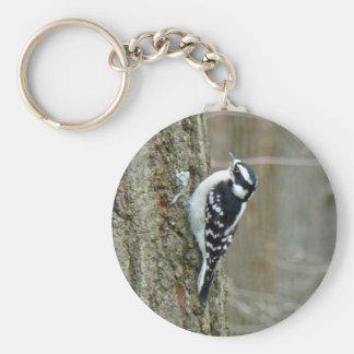 Downy Woodpecker Items Keychain
