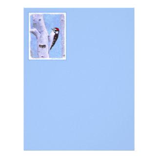 Downy Woodpecker Letterhead Template
