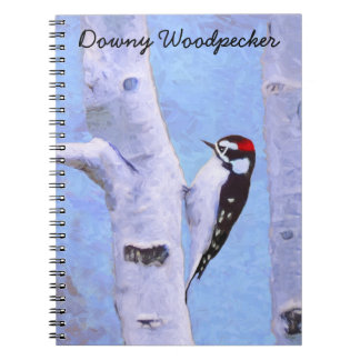 Downy Woodpecker Spiral Note Books