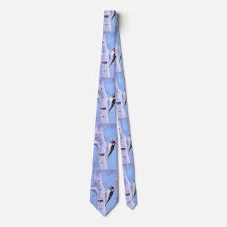 Downy Woodpecker Tie