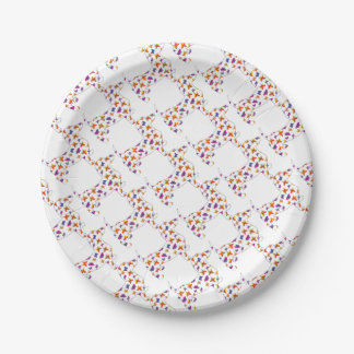 Doxie-Butterfly--White Paper Plate
