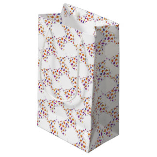 Doxie-Butterfly--White Small Gift Bag