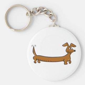 Doxie Dachshund Basic Round Button Keychain