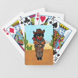 Doxie Gunslinger Bicycle Playing Cards