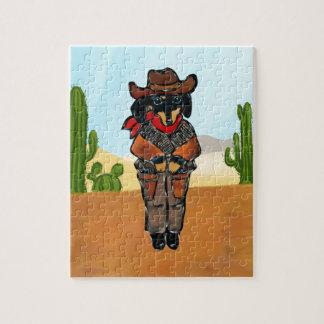 Doxie Gunslinger Jigsaw Puzzle