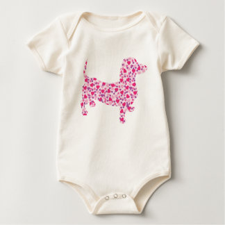 DOXIE-Hearts Baby Bodysuit