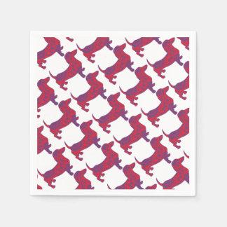 Doxie in Reniassance-Pattern Napkin