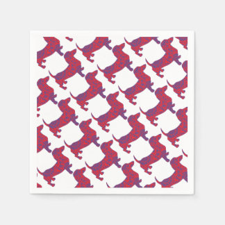 Doxie in Reniassance-Pattern Paper Napkins
