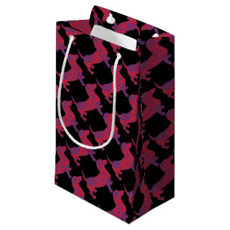 Doxie in Reniassance-Pattern Small Gift Bag