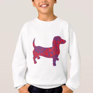 Doxie in Reniassance-Pattern Sweatshirt