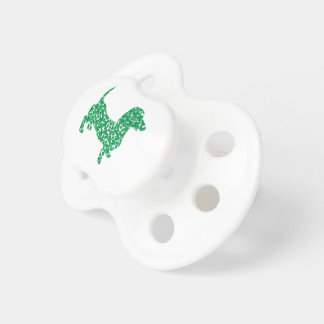 Doxie-in-Shamrocks Baby Pacifiers