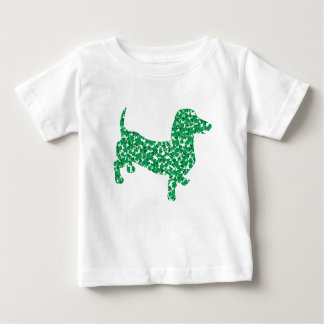 Doxie-in-Shamrocks Baby T-Shirt