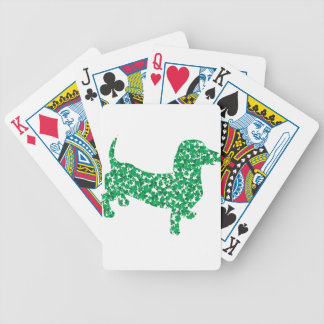 Doxie-in-Shamrocks Bicycle Playing Cards