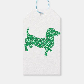 Doxie-in-Shamrocks Gift Tags