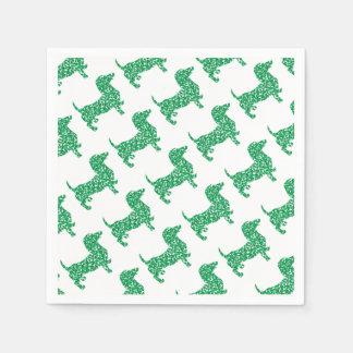 Doxie-in-Shamrocks Paper Napkin