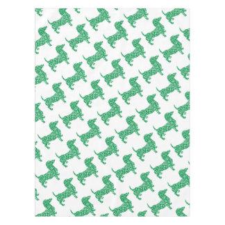 Doxie-in-Shamrocks Tablecloth