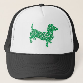Doxie-in-Shamrocks Trucker Hat