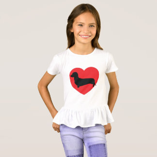 Doxie Love Ruffle Top